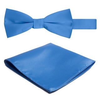 Jacob Alexander Solid Color Men's Bowtie and Hanky Set