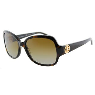 15df09a4c736 Tory Burch TY 7059 1378T5 Butterfly Dark Tortoise Plastic Square Brown  Gradient Lens Sunglasses