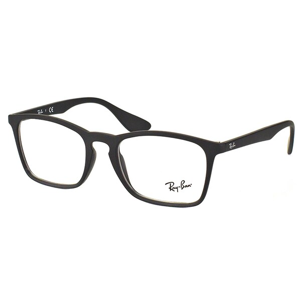 162ad2463a Ray-Ban RX 7045 5364 Black Rubber Plastic Rectangle 53mm Eyeglasses
