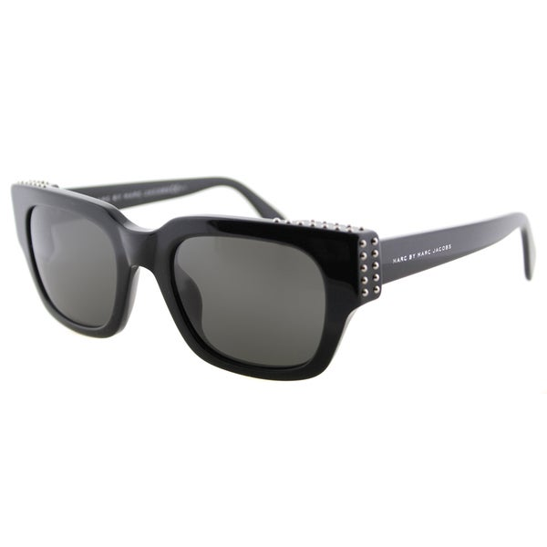 953ed6e85b Shop Marc by Marc Jacobs MMJ 485 Studs 807 Black Plastic Square Cat ...