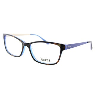 Guess GU 2538 052 Dark Havana Blue Plastic Cat-Eye 55mm Eyeglasses