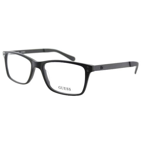Guess GU 1869 002 Matte Black Plastic Rectangle 53mm Eyeglasses