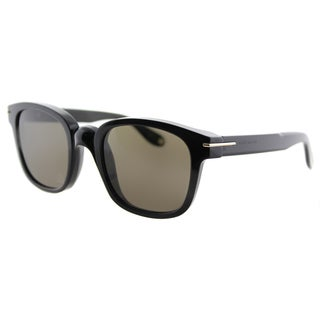 Givenchy GV 7000 807 Black Plastic Square Brown Lens Sunglasses