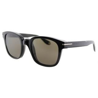 Givenchy GV 7000 807 Black Plastic Square Brown Lens Sunglasses