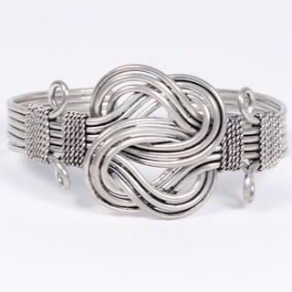 Handmade Buddha Knot Cuff (India)