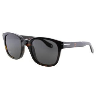 Givenchy GV 7000 086 Dark Havana Plastic Square Grey Lens Sunglasses
