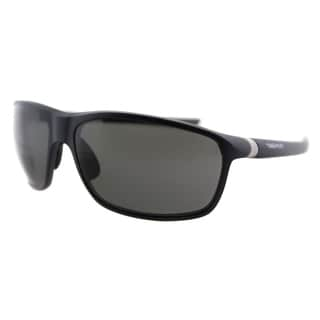 TAG Heuer TAG 27 6023 103 Matte Dark Blue And Silver Plastic Sport Grey Polarized Lens Sunglasses