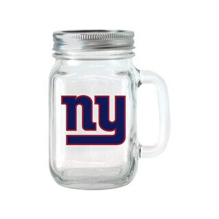 New York Giants 16-ounce Glass Mason Jar Set