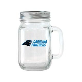 Carolina Panthers 16-ounce Glass Mason Jar Set