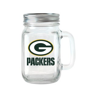 Green Bay Packers 16-ounce Glass Mason Jar Set