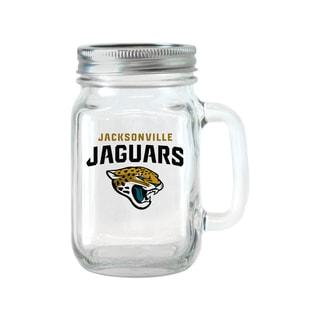 Jacksonville Jaguars 16-ounce Glass Mason Jar Set
