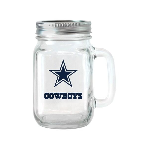 Dallas Cowboys 16-ounce Glass Mason Jar Set