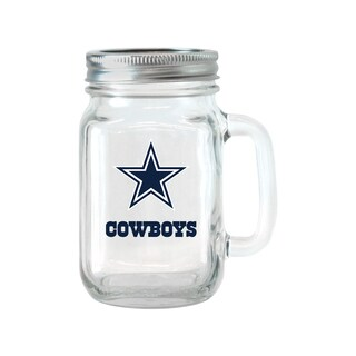 Dallas Cowboys 16-ounce Glass Mason Jar Set