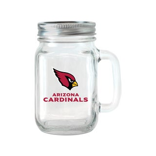 Arizona Cardinals 16-ounce Glass Mason Jar Set