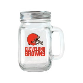 Cleveland Browns 16-ounce Glass Mason Jar Set