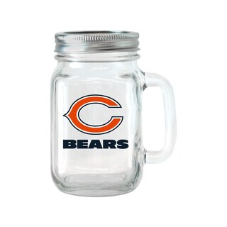 Chicago Bears 16-ounce Glass Mason Jar Set