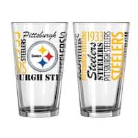 Pittsburgh Steelers 16-Ounce Spirit Pint Glass Set