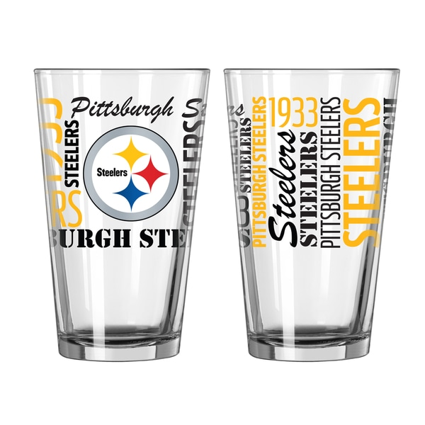 Pittsburgh Steelers 16-Ounce Spirit Pint Glass Set