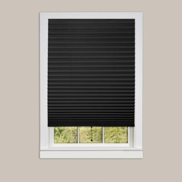 Achim 1 2 3 Vinyl 6 Pack Of Room Darkening Black Pleated Window Shades Free Shipping Today