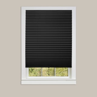 Achim 1-2-3 Vinyl 6-pack of Room Darkening Black Pleated Window Shades
