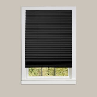 1-2-3 Vinyl 6-pack of Room Darkening Black Pleated Window Shades