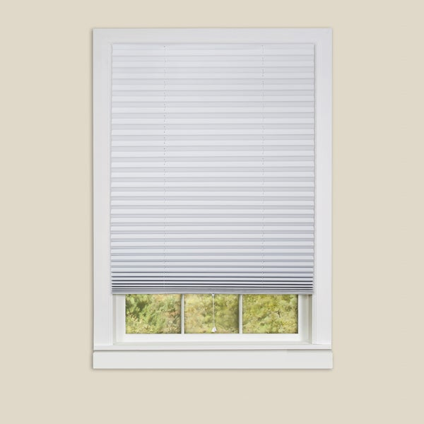Achim 1-2-3 Vinyl Room Darkening White Pleated Window Shade - 6 Pack