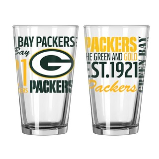 Green Bay Packers 16-Ounce Spirit Pint Glass Set