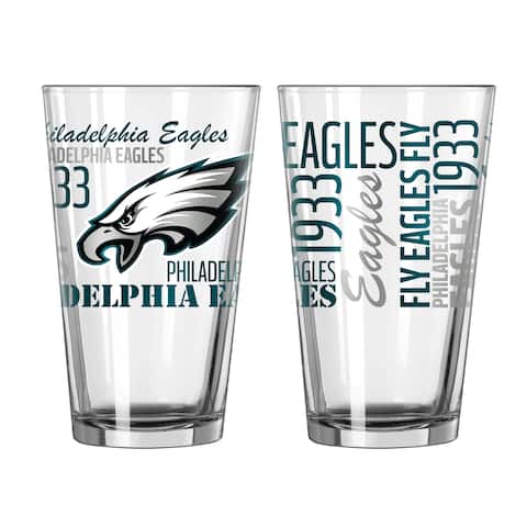 Philadelphia Eagles 16-Ounce Spirit Pint Glass Set