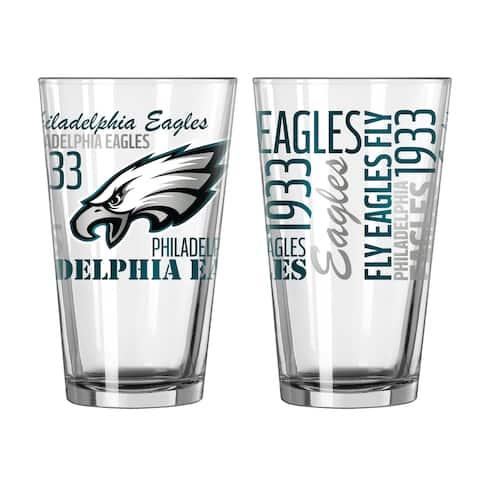Philadelphia Eagles 16-Ounce Spirit Pint Glass Set