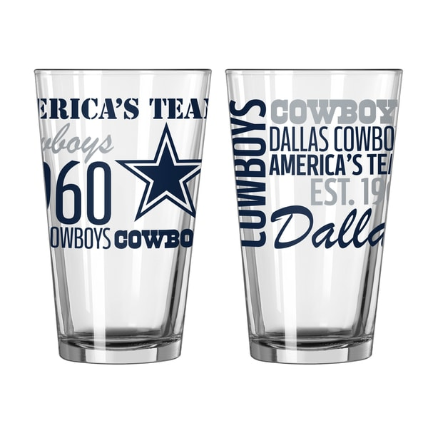 Dallas Cowboys 16-Ounce Spirit Pint Glass Set. Opens flyout.