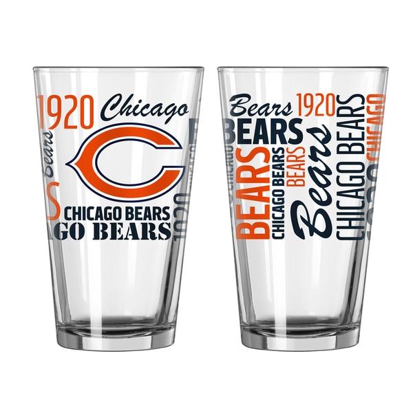 Chicago Bears 16-Ounce Spirit Pint Glass Set