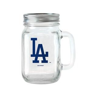 Los Angeles Dodgers 16-ounce Glass Mason Jar Set