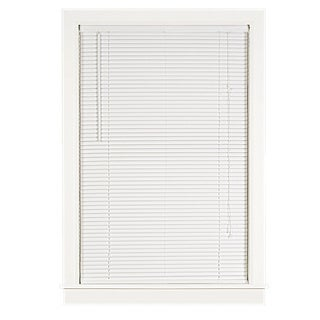 Achim Deluxe Sundown White 1-inch Room-darkening Mini Blind
