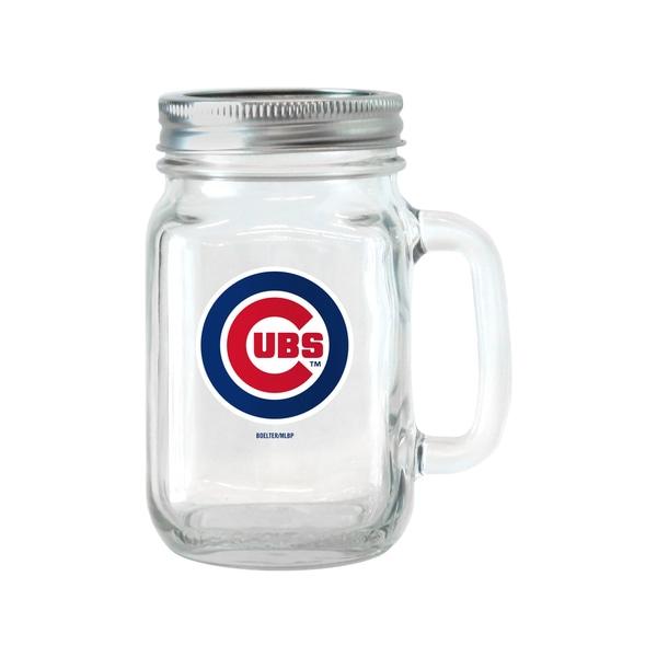 Chicago Cubs 16-ounce Glass Mason Jar Set