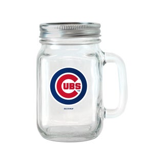 Chicago Cubs 16-ounce Glass Mason Jar Set