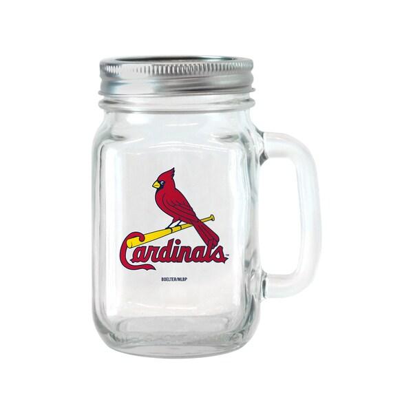 St. Louis Cardinals 16-ounce Glass Mason Jar Set