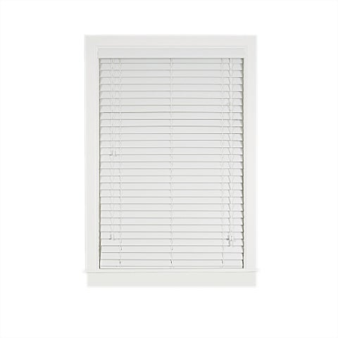 Achim Madera Falsa White Faux Wood 2-inch Blind