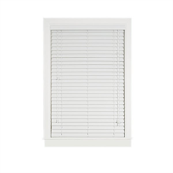 Achim Madera Falsa White Faux Wood 2-inch Plantation Blind