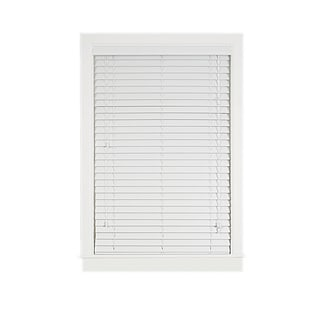 Madera Falsa White Faux Wood 2-inch Plantation Blind
