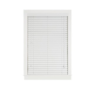 Achim Madera Falsa White Faux Wood 2-inch Plantation Blind (More options available)