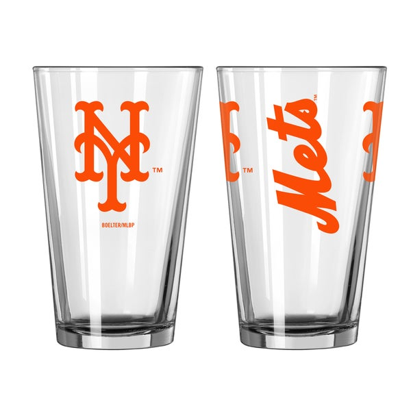 New York Mets Game Day Pint Glass 2-Pack