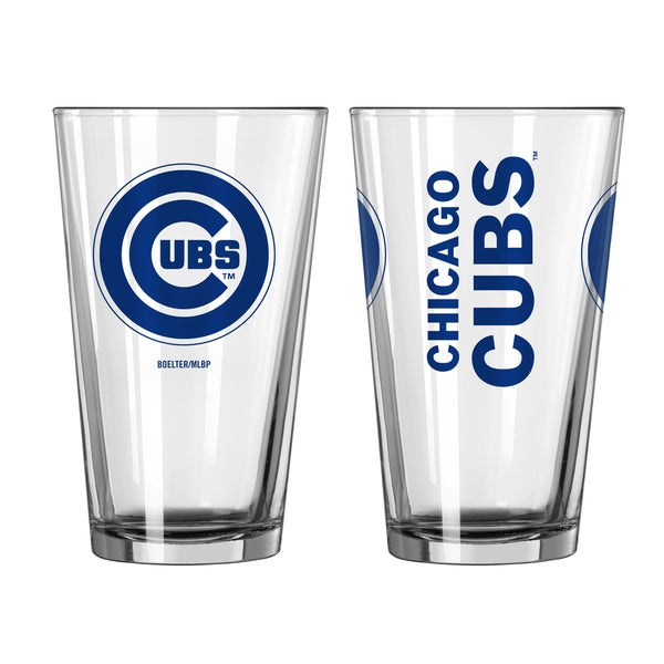 Chicago Cubs Game Day Pint Glass 2-Pack