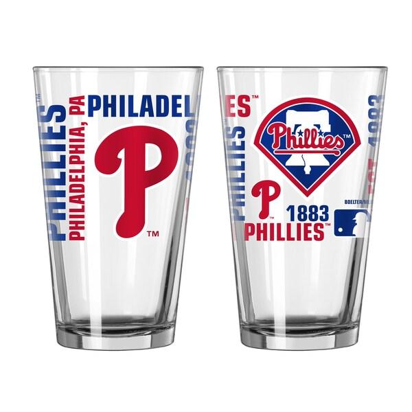 Philadelphia Phillies 16-Ounce Spirit Pint Glass Set