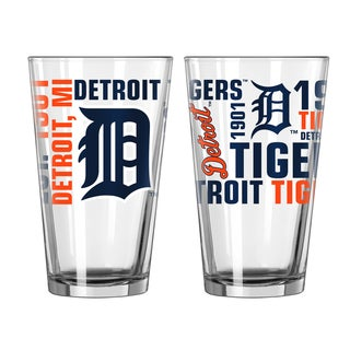 Detroit Tigers 16-Ounce Spirit Pint Glass Set