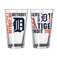 Detroit Tigers 16-Ounce Spirit Pint Glass Set