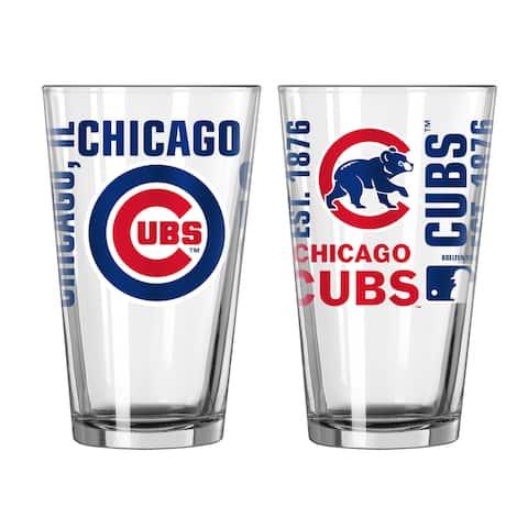 Chicago Cubs 16-Ounce Spirit Pint Glass Set - Chicago Cubs