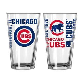 Chicago Cubs 16-Ounce Spirit Pint Glass Set