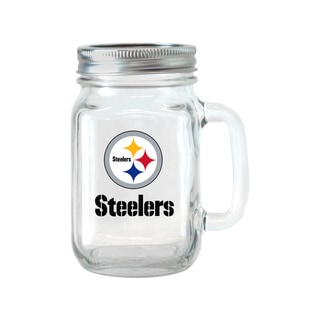 Pittsburgh Steelers 16-ounce Glass Mason Jar Set