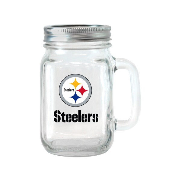 Pittsburgh Steelers 16-ounce Glass Mason Jar Set