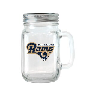 St. Louis Rams 16-ounce Glass Mason Jar Set